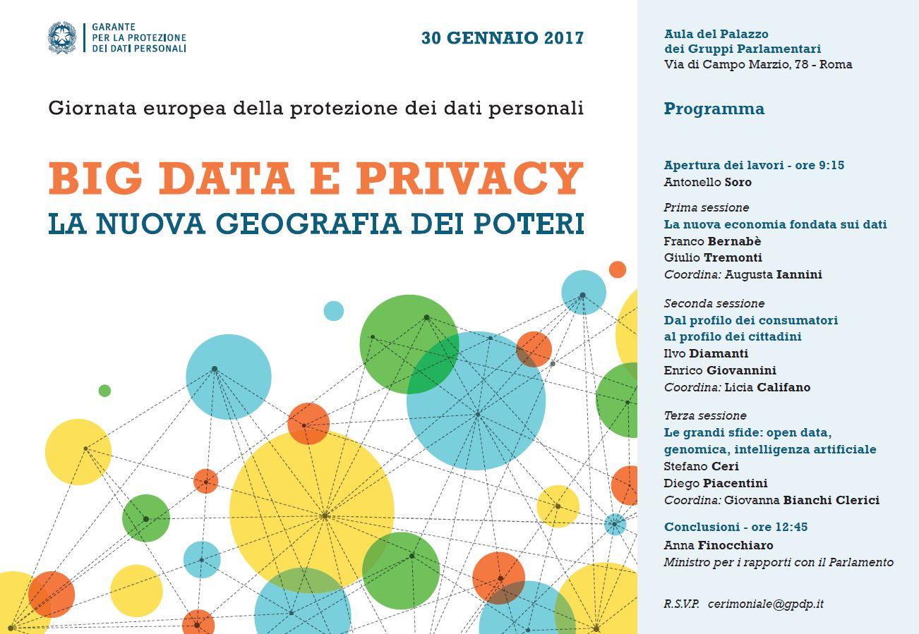 big data e privacy 30 gennaio 2017