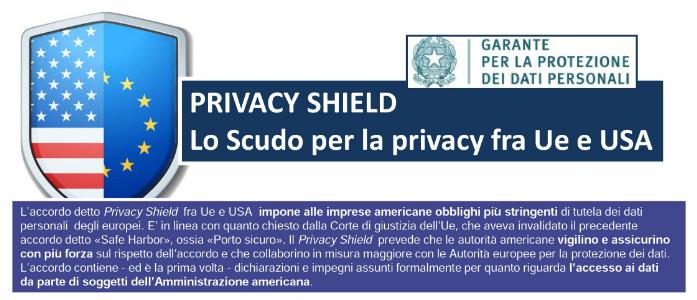 Privacy shield, lo scudo per la privacy fra UE e USA