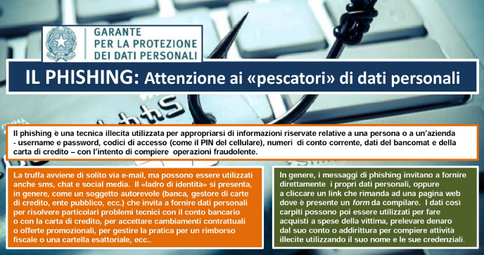 """Il Phishing: attenzione ai """"pescatori"""" di dati personali"""
