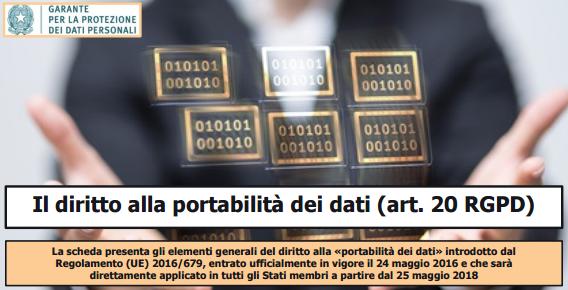 Diritto alla portabilità dei dati