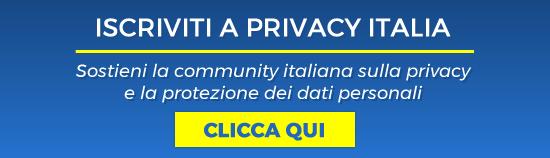 Iscriviti a Privacy Italia