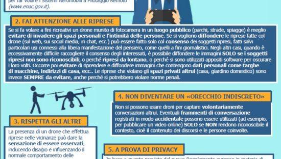 Droni: consigli per rispettare la privacy quando si usano a fini ricreativi