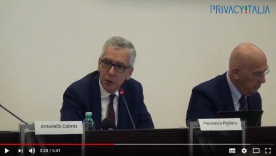 Cagliari – 10 novembre 2017 Regolamento Ue #SaveTheData. Intervento di Francesco Pigliaru, Presidente della Regione Sardegna