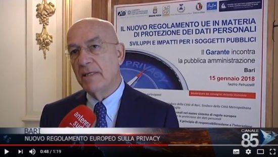 GDPR, il Garante Privacy a Bari incontra la PA. Intervista ad Antonello Soro
