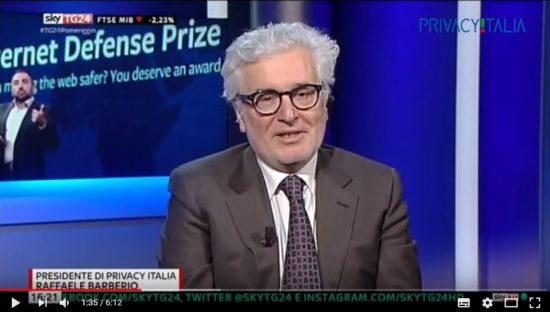 Caso Facebook-Cambridge Analytica. Raffaele Barberio ospite a SkyTg24