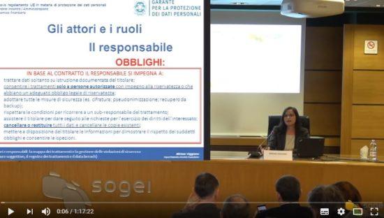 GDPR, seminario formativo Sogei (seconda parte)