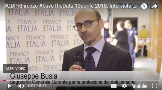 #GDPRFirenze #SaveTheData 13aprile 2018. Intervista ai relatori intervenuti al Convegno organizzato da Privacy Italia