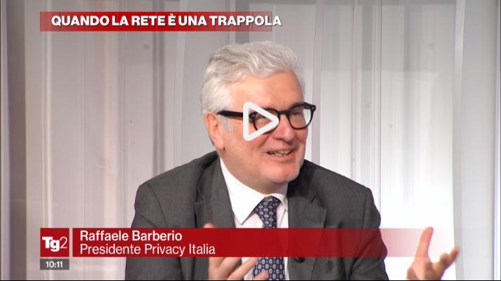 Raffaele Barberio ospite della trasmissione Tg2 Lavori in Corso