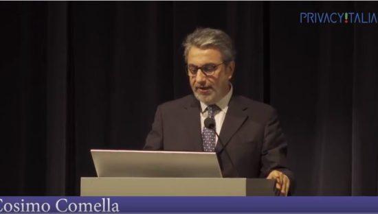 Il Garante incontra i Responsabili della Protezione dei Dati – Intervento di Cosimo Comella