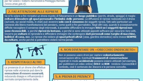 Droni a fini ricreativi: Consigli del Garante per rispettare la privacy