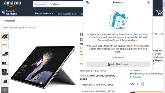 Firefox sta testando il comparatore di prezzi a prova privacy