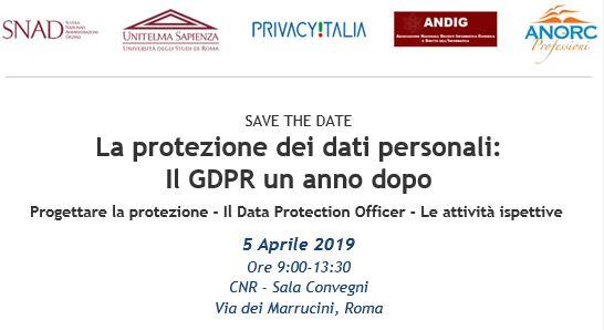 La protezione dei dati personali: Il GDPR un anno dopo
