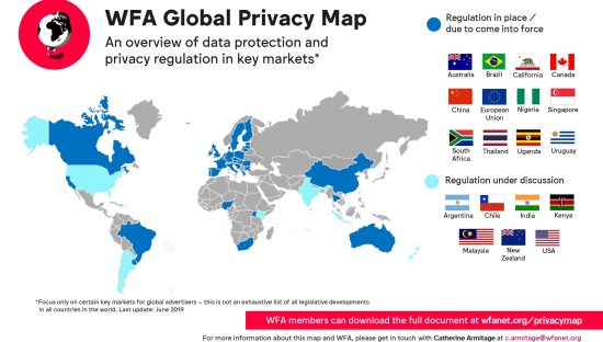 WFA Global Privacy Map