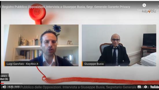 Videointervista a Giuseppe Busia: 'Con nuovo Registro Opposizioni consensi azzerati'