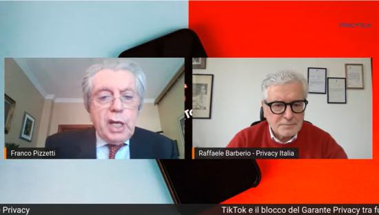 """TikTok, F. Pizzetti: """"Favorevole al blocco del Garante, ma i minori vanno proetetti su tutto il web"""""""